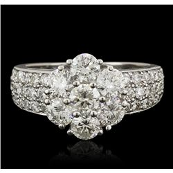 14KT White Gold 2.55ctw Diamond Ring