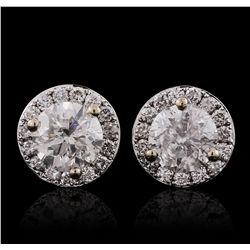 18KT White Gold 1.53ctw Diamond Earrings