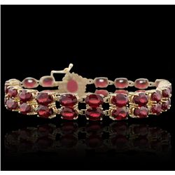 14KT Yellow Gold 10.54ctw Ruby and Diamond Bracelet