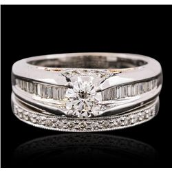 14KT Two-Tone Gold 1.31ctw Diamond Ring Wedding Set
