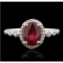 14KT White Gold 2.07ct Ruby and Diamond Ring