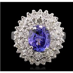 14KT White Gold 2.38ct Tanzanite and Diamond Ring