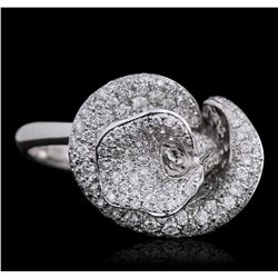 18KT White Gold 1.67ctw Diamond Ring