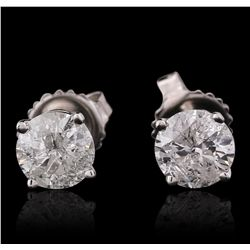 14KT White Gold 1.57ctw Diamond Stud Earrings
