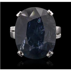 18KT White Gold 25.99ct Sapphire and Diamond Ring