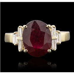14KT Yellow Gold 5.95ct Ruby and Diamond Ring
