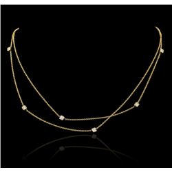 14KT Yellow Gold 0.30ctw Diamond Necklace