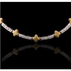 18KT Two-Tone Gold 0.54ctw Diamond Necklace