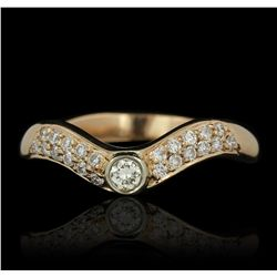 14KT Rose Gold 0.45ctw Diamond Ring