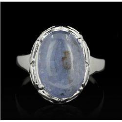 SILVER 5.19ct Tanzanite Ring