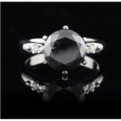 14KT White Gold 3.00ct Black Diamond Ring
