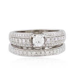 14KT White Gold 1.14ctw Diamond Wedding Ring Set
