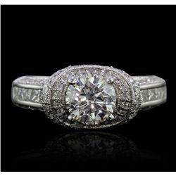 18KT White Gold EGL Certified 2.12ctw Diamond Ring