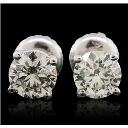 14KT White Gold 1.19ctw Diamond Solitaire Earrings