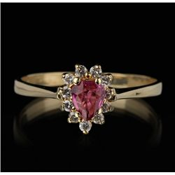 14KT Yellow Gold 0.20ct Ruby and Diamond Ring FJM2289