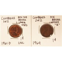 Assorted Lot of 2 Misc Die Breaks CoinBG42