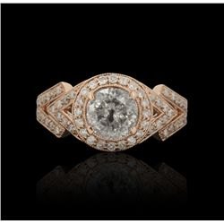 14KT Rose Gold 1.61ctw Diamond Ring A4688