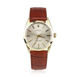 Vintage Rolex Oyster Perpetual on Leather Strap Wristwatch GB681