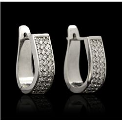 14KT White Gold 1.02ctw Diamond Earrings GB909
