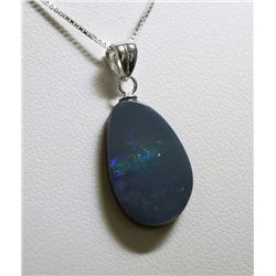 Sterling Silver Opal Doublet Necklace RTJ421
