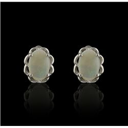 SILVER 0.55ctw Opal Earrings SLV97