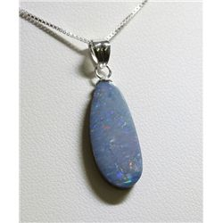 Sterling Silver Opal Doublet Necklace RTJ525