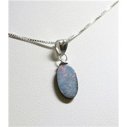 Sterling Silver Opal Doublet Necklace RTJ488