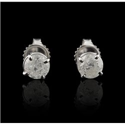 14KT  White Gold 1.62ctw Diamond Solitaire Earrings GB1179