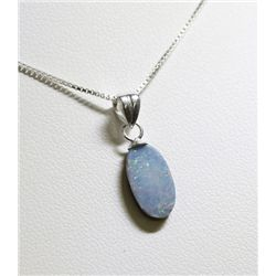 Sterling Silver Opal Doublet Necklace RTJ482