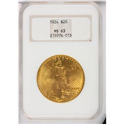 1924 $20 NGC MS63 St. Gaudens Double Eagle Gold Coin DaveF1118