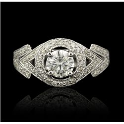 14KT White Gold 0.70ct Diamond Ring A4485