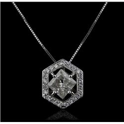 14KT White Gold 1.93ctw Diamond Pendant with Chain GB633