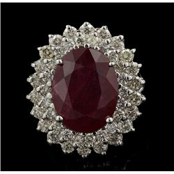 14KT White Gold 8.57ct Ruby and Diamond Ring FJM2361