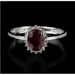 14KT White Gold 1.21ct Ruby and Diamond Ring FJM2295