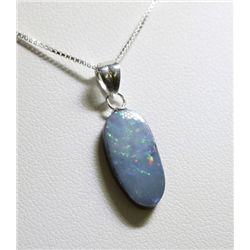 Sterling Silver Opal Doublet Necklace RTJ491