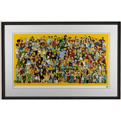"""The Simpson's """"Where's Bart"""" Limited Edition Giclee ED1407"""
