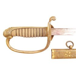 A JAPANESE M1914 NAVAL OFFICER'S PARADE SWORD