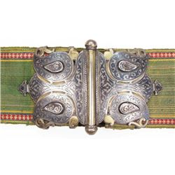 A FINE BUKHARA KAMARBAND HONOR BELT