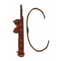 A MUGHAL BOW & QUIVER WITH ARROWS