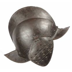 AN ENGLISH BURGONET HELMET