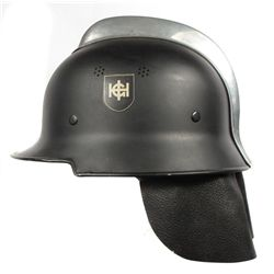 A GERMAN WWII FIRE SERVICE HELMET