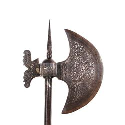 A PERSIAN QAJAR DYNASTY BATTLEAXE
