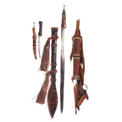 A MANDINKA SWORD, DAGGER AND QUIVER WITH ARROWS