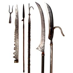 SIX HAFTED WEAPONS