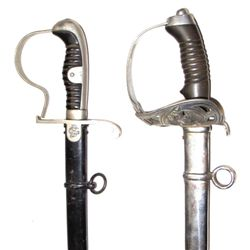 IMPERIAL GERMAN CAVALRY SABER AND DOVEHEAD SABER