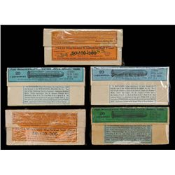 LOT OF FIVE BOXES OF SCARCE WINCHESTER 50-110-300 RIFLE CARTRIDGES.
