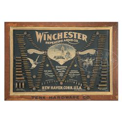 SCARCE WINCHESTER MODEL 1897 DOUBLE-W CARTRIDGE BOARD.