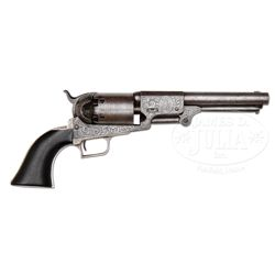 EXTREMELY RARE PANEL SCENE ENGRAVED COLT 2ND MODEL DRAGOON PERCUSSION REVOLVER WITH IMAGE OF THE MAR