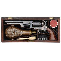 EXTREMELY RARE CASED 2ND MODEL COLT DRAGOON PERCUSSION REVOLVER IN OUTSTANDING CONDITION.
