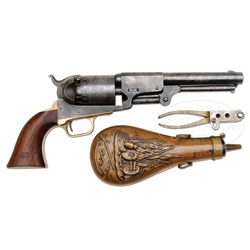 SCARCE HIGH CONDITIONED MARTIALLY MARKED COLT THIRD MODEL DRAGOON PERCUSSION REVOLVER.